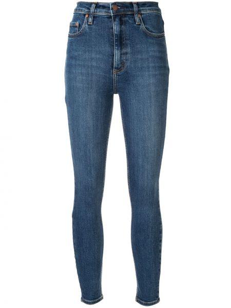 Синие джинсы-скинни с пайетками на пуговицах с поясом Nobody Denim