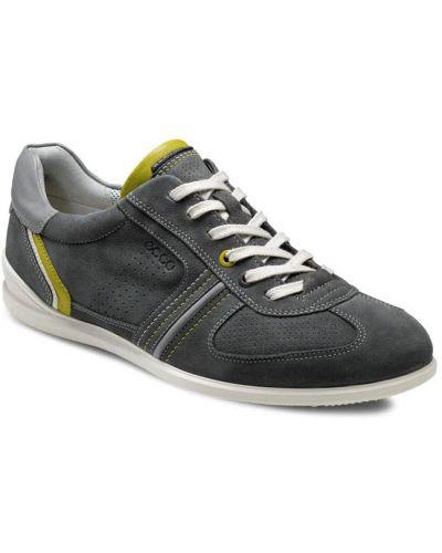 Кожаные кроссовки из нубука на каблуке Ecco