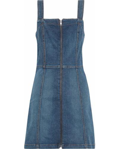 Джинсовое платье мини - синее Reformation