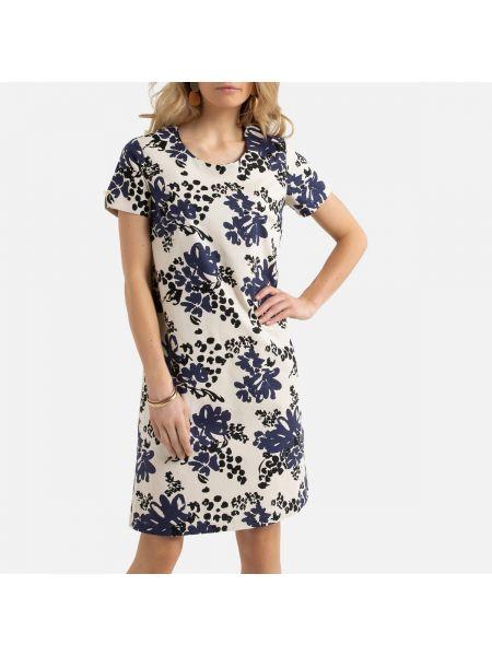 Платье мини миди с цветочным принтом La Redoute
