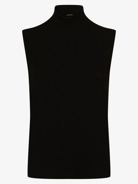 Czarna koszulka prążkowana Someday