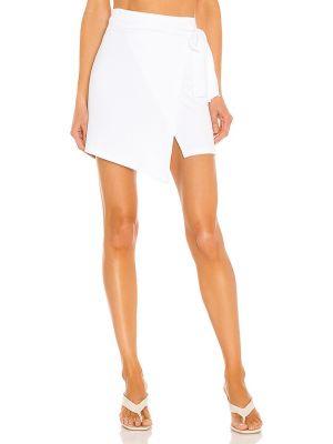 Белая кожаная юбка для полных Lna
