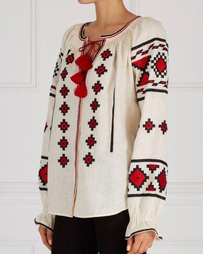 Белая блузка с воротником с вышивкой Vita Kin