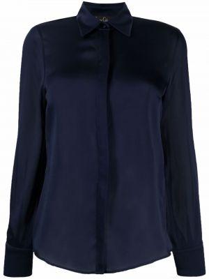 Шелковая рубашка с длинным рукавом с воротником на пуговицах Carine Gilson