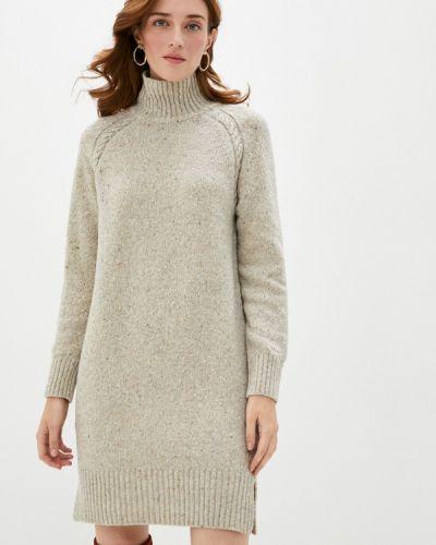 Бежевое вязаное платье Gant
