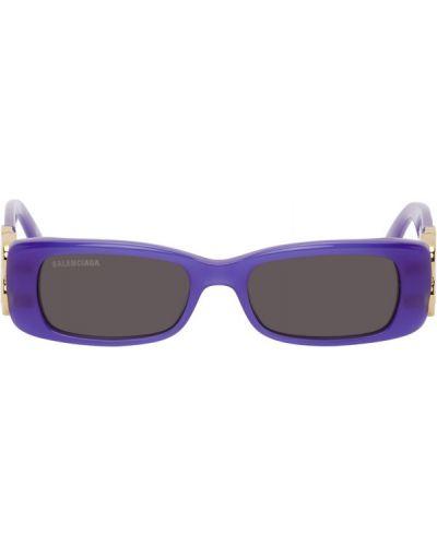 Złote czarne okulary Balenciaga