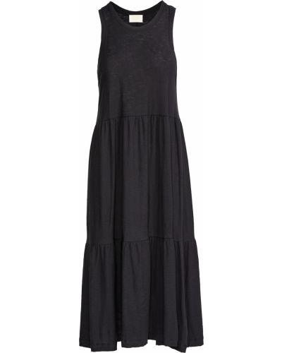 Черное текстильное платье с декольте Nation Ltd