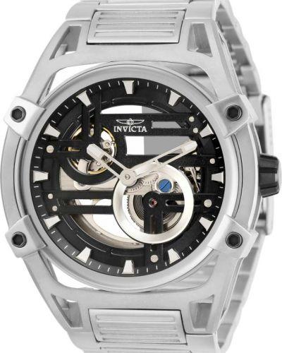 Со стрелками серебряные часы механические Invicta
