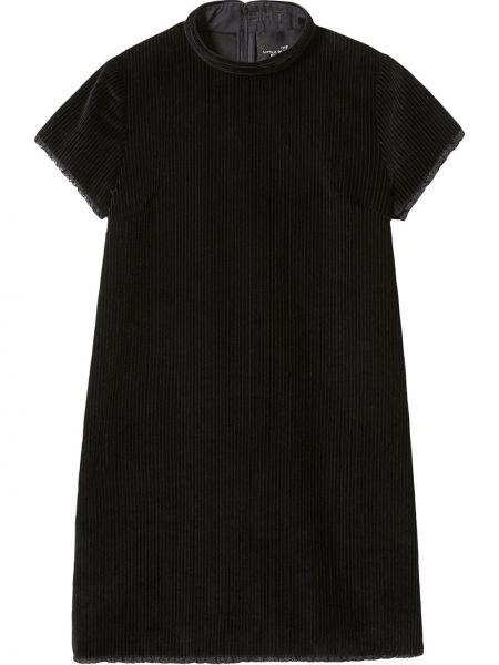 С рукавами черное платье мини вельветовое Marc Jacobs