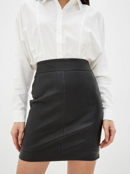 Черное кожаное платье Oakwood