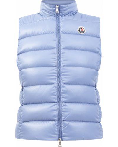 Пуховая жилетка с карманами с воротником-стойка Moncler