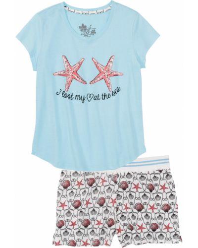 Пижама с шортами с принтом с рисунком Bonprix