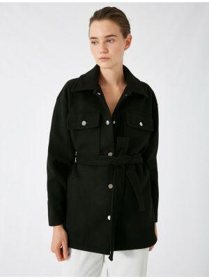 Koszula z paskiem - czarna Koton