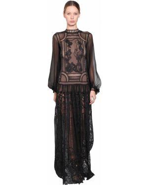 Платье на пуговицах со складками Alberta Ferretti