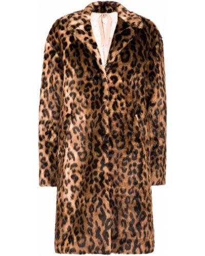 Пальто леопардовый с принтом No.21