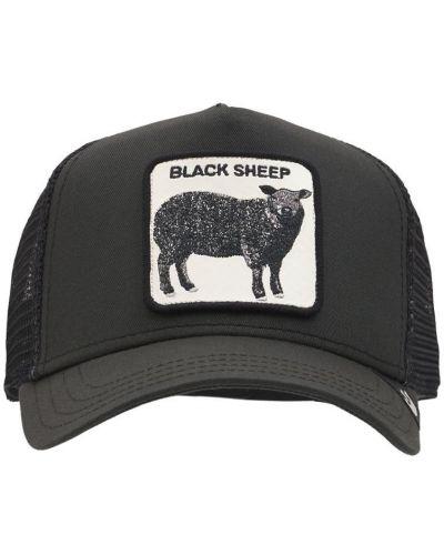 Czarna czapka z haftem Goorin Bros
