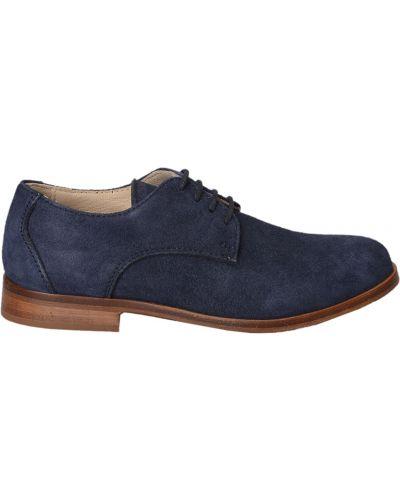 Туфли замшевый синие Gallucci