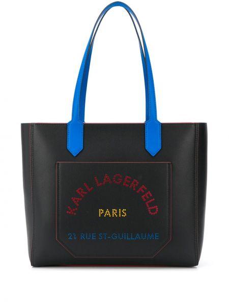 Кожаная сумка дорожняя сумка-тоут Karl Lagerfeld