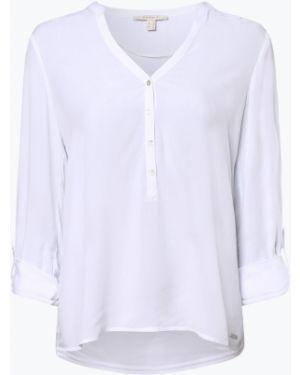 Biała tunika materiałowa na co dzień Esprit Casual