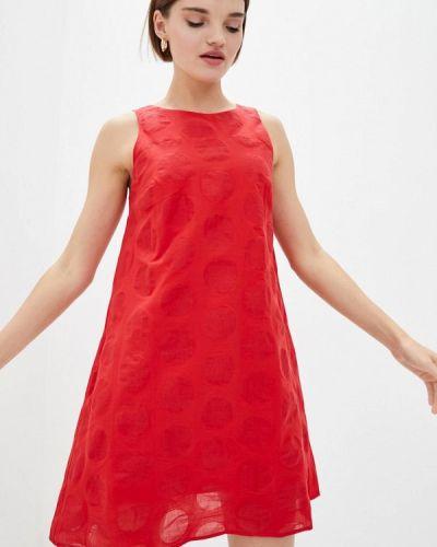 Повседневное красное платье Ora