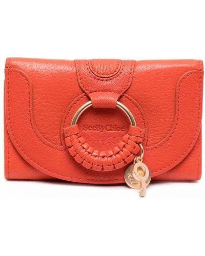 Pomarańczowy portfel bawełniany See By Chloe