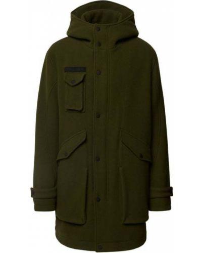 Zielony płaszcz wełniany Drykorn