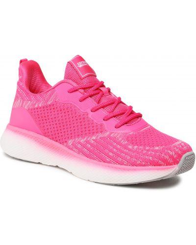 Buty sportowe casual - różowe Sprandi