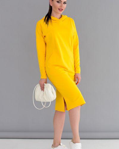 Прямое спортивное платье с капюшоном с разрезами по бокам Lady Taiga