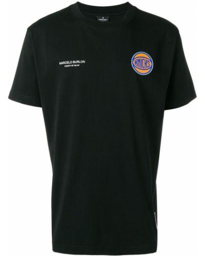 Bawełna bawełna czarny koszula Marcelo Burlon County Of Milan
