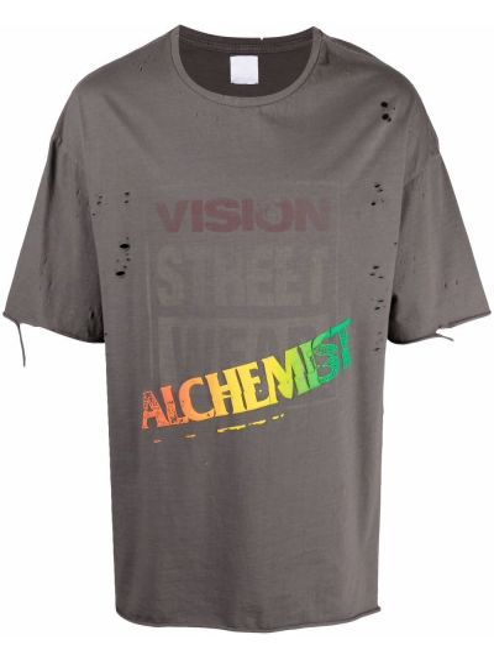 T-shirt bawełniany z printem krótki rękaw Alchemist