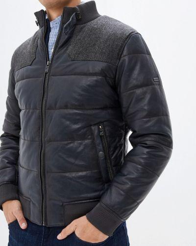 Кожаная куртка осенняя синяя Daniel Hechter