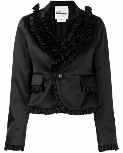 Черный пиджак с подкладкой на пуговицах Comme Des Garçons Noir Kei Ninomiya