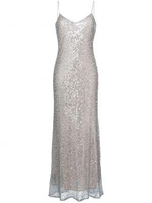 Sukienka srebrna Galvan