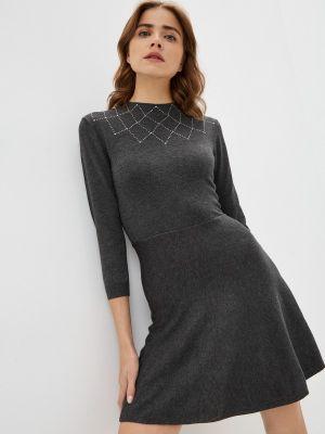 Вязаное платье - серое Springfield