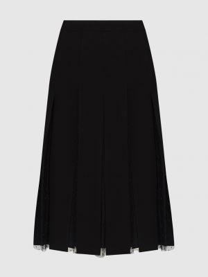 Черная юбка миди Red Valentino