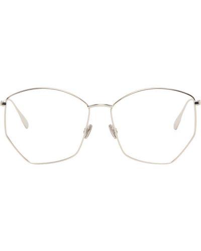 Кожаные черные очки для зрения прозрачные Dior