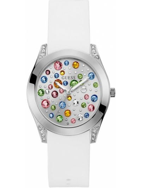 Biały zegarek silikon Guess