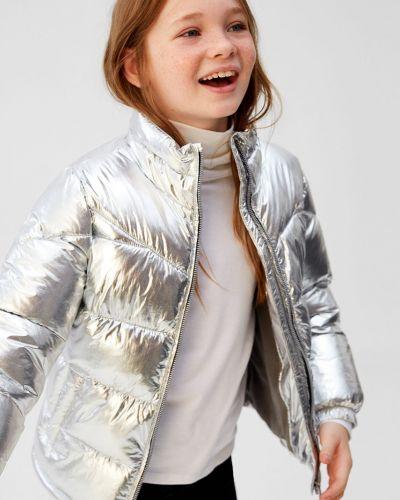 Светло-серая куртка Mango Kids