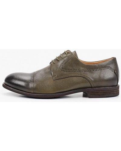 Зеленые кожаные туфли El'rosso