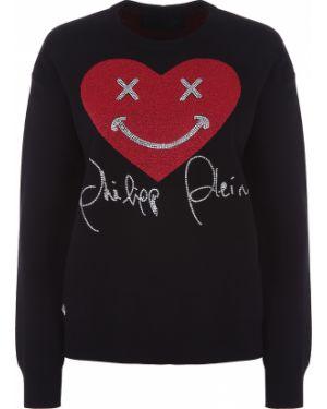Пуловер со стразами из вискозы Philipp Plein