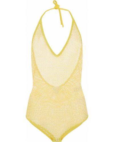 Ватное хлопковое желтое боди Bottega Veneta