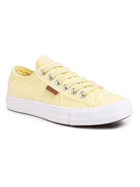 Tenisówki - żółte Dockers By Gerli