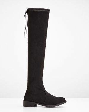 Ботфорты на каблуке черные Bonprix