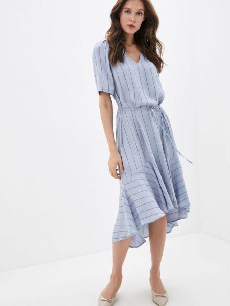 Синее прямое платье Twist & Tango