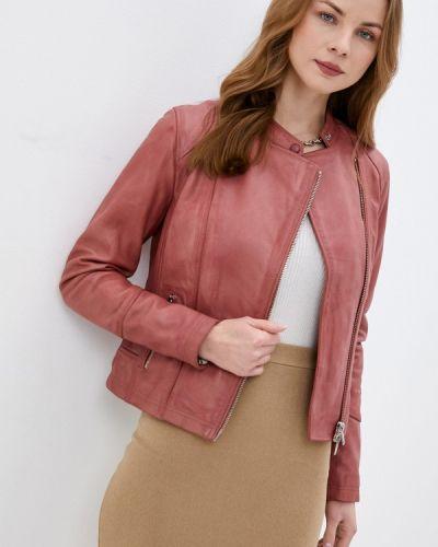 Розовая кожаная куртка Oakwood