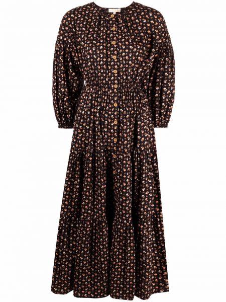 Czarna sukienka z printem Bytimo