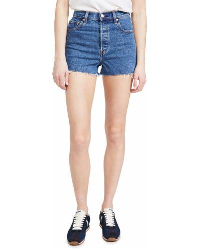 Синие хлопковые джинсовые шорты с карманами Levi's®