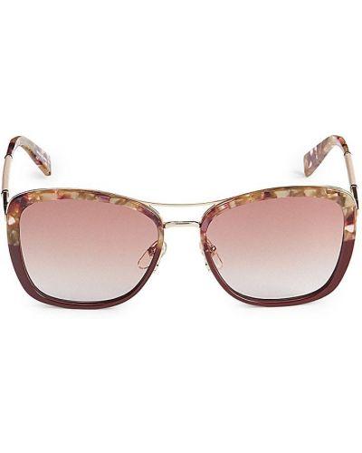 Солнцезащитные очки металлические - бордовые Longchamp