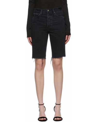 Czarne szorty jeansowe z paskiem Grlfrnd