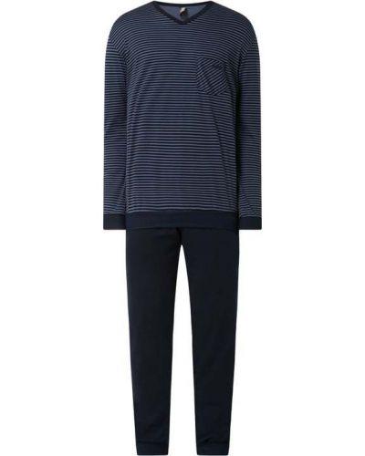 Niebieska spodni piżama bawełniana w paski Calida